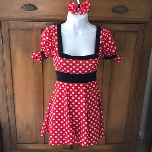 Other - Minnie Mouse Costume with matching hair bow!